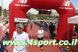 Me finishing the race