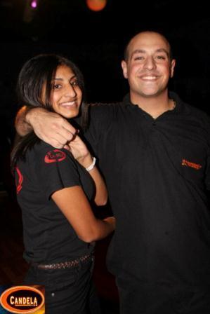 Moran DJ/instructor and Yonat Instructor